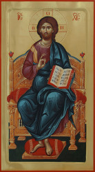 Jesus Christ enthroned 77x42 cm
