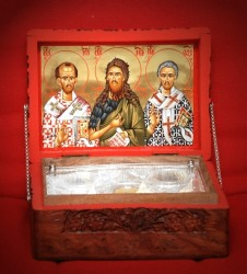 Relics Box for the St. John the Hrysostomos, St. John the Baptist and St.Lazaros