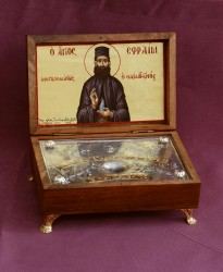 Relics Box for the St. Ephraim the    New Hieromartyr of Nea Makri, the Wonderworker